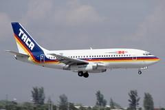 N239TA Miami 20-2-1992 (Plane Buddy) Tags: n239ta boeing 737 taca miami mia