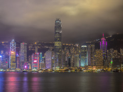 Blissfully unaware of Time (Wizard CG) Tags: hong kong victoria harbour boat duk ling junk ship tourist china chinese historic asia cbd skyline cityscape outdoor long exposure night photography waterfront water epl7 architecture city