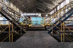 Blue Power Room (Gr33nµ) Tags: urbex powerroom abandonedfactory
