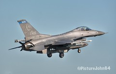 """Frisian Flag 2019: Frisian Flag 2019: USAF F-16CM (91-0405) of Minnesota ANG 179th Fighter Squadron """"Bulldogs"""" (PictureJohn64) Tags: straaljager plane aircraft picturejohn64 flugzeug d7100 sigma nikon 2019 ehlw vliegveld vliegtuig duluth usaf f16falcon fighter netherlands nederland leeuwarden frisianflag frisian flag jetfighter airport military airplane air force luchtvaart"""