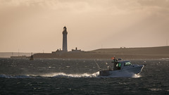 Golden Light (MBDGE >1.5 Million Views) Tags: canon golden light orkney stromness sea sparkle boat lighthouse sun spray