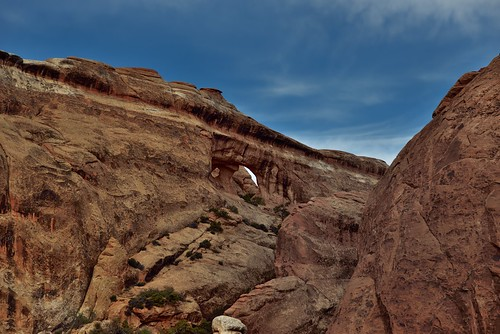 A Far Off View to the Partition Arch (Arches National Park)