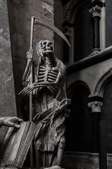 Follow The Reaper (c.gorges) Tags: statue death nikon d750 sigma 35mm f14 sensenmann tod sense trier dom cathedral sculpture skelett