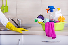 Kitchen Cleaning Concept (cleaningserviceatlanta) Tags: business charwoman chore cleaner cleaning cleanup close color concept countertop domestic female finished girl gloves hand home house household housewife housework hygiene janitor job keeper keeping kitchen lady maid maintenance occupation people person profession protective rubber service staff supplies washer woman work worker