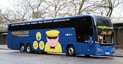 Stagecoach Western 54601 YX68UAJ in Glasgow working on the X77 corridor. (Gobbiner) Tags: 54601 glasgow stagecoachwestern x77 ayr elitei b11rt plaxton yx68uaj interdeck westscotland volvo megabuscom megabus
