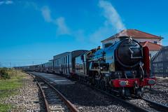 The Dymchurch Express (daveseargeant) Tags: steam train station dungeness kent sea seaside shingle nikon df 50mm 18g