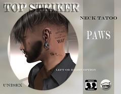 TOP STRIKER NECK TAT PAWS (Top Striker) Tags: colbiehill topstriker commotionevent roymildor tattoo male female unisex