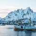 snow ship sea