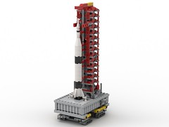 Saturn V Startrampe Miniatur_3 (Knackepeter) Tags: lego saturn v space moon nasa crawler apollo 11 ldd bricklink rebrickable studio lxf miniature microscale