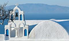 Aegean (ranssom.) Tags: aegean oia greece santorini temple church sea blue white