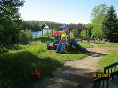 Outdoor playground (bitemeasshole69) Tags: kinarkoutdoorcentre minden ontario canada lakes water outdoors wilderness nature specialneedscamp autismontario activities freshair upnorth northernontario camping respite fun exhilirating hwy35 counsellors scenic picturesque calming serene peaceful landscape wildscape coniferous deciduous trees nativetrees foliage underbrush lush canadianwilderness spring2018 green bugs insects