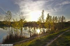 Lac tranquille (Elouan Astrowild) Tags: drome soleil france arbres cielbleu lac coucherdesoleil chemin balade printemps nuages