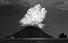 Stromboli (HWHawerkamp) Tags: italy islands vulcano stromboli eruption monochrome clouds travel aeolianislands europe landscape dramatic