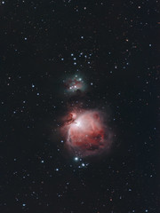 Orion Nebula with a 300mm F/4 Lens (AstroBackyard) Tags: orion nebula 300m lens canon f4 rebel t3i 600d astrophotography astronomy space science ioptron skyguider pro mount optolong filter night universe stars deep sky m42 running man