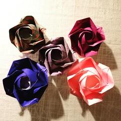 Evi Rose by Evi Binzinger. (Stefano Borroni (Stia)) Tags: origami origamipaper origamicdo origamilove origamiart piegarelacarta arte folding foldingpaper papiroflexia carta rose rosa fiori love handmade paper italia cdoitalia