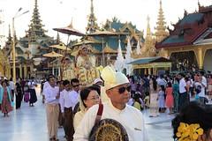 Ordination ceremony for novice Buddhist monks, Shwedagon Pagoda, Yangon (12) (Prof. Mortel) Tags: myanmar burma yangon rangoon buddhist pagoda shwedagon monks
