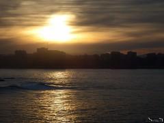 Xixón dorado (Jaime Martin Fotografia) Tags: asturias gijon nature sunset sea cantabrico
