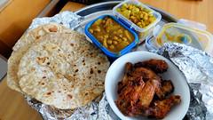 Indian food (Sandy Austin) Tags: panasoniclumixdmcfz70 sandyaustin westauckland auckland northisland newzealand food homemade rotis chickey curry dhall