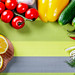 Fresh raw vegetables background