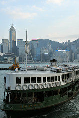The Iconic Star Ferry   Hong Kong (香港), China (Ping Timeout) Tags: hong kong hongkong china sar 香港 island south special administrative region people's republic prc territory december 2018 vacation holiday trip 香港特區 香港特区 green white star ferry heritage company kowloon pier terminal berth water victoria harbor harbour channel skyline building skyscraper tower capitalism capital city urban metropolis metropolitan high density view scene scenery sight lookout service public transport cross central sky blue skies cloud afternoon outdoor vessel boat tug passenger samsung fwd happy new year light