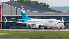 Luxair (mairmaximilian) Tags: boeing b737 b737800 luxair apron terminal taxi flughafenmemmingen memmingen avgeek