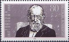 Deutsche Briefmarken (micky the pixel) Tags: briefmarke stamp ephemera deutschland bundespost theodorstorm schriftsteller