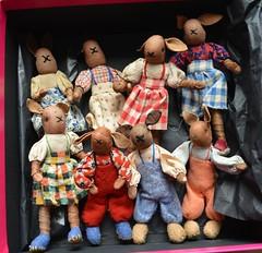 Box of bunnies (shero6820) Tags: old vintage toy flexible handmade homemade 1940s makedo