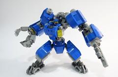 Benny LR Mech Suit 03 (chubbybots) Tags: lego mech mechsuit benny blue robot