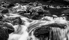 Bentley Brook Mono (alan.dphotos) Tags: water monochrome black white falls rocks lumsdale brook stream river mills bentley derbyshire matlock waterfall rock