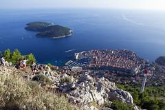 Dubrovnik from above (LunarKate) Tags: eu european union europeanunion europe croatia hrvatska dubrovnikneretva dubrovnik city cityscape september 2018 nikon d3100 dslr beautiful travel traveling tourism adriatic sea mediterranean srd mountain