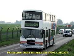 Route 27B, Eden Quay to Harristown, Dublin Bus, RV602, April 2005 (Shamrock 105) Tags: dublin dublinbus harristown volvo olympian volvoolympian alexander edenquay route27b rv602 cityswift dublinairport