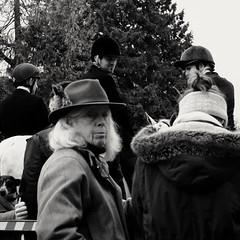 Missed focus badly but you get the idea. (ianmiller6771) Tags: bw blackandwhite whiteblack foxhunting englishcountryside evil uppercrust fujixe2 streetphotographyuk worcestershireuk ukstreetphotography nastyfaces animalcruelty bloodsport