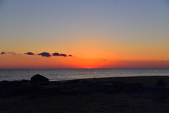 """Delaware Atlantic peek-a-boo (lauren3838 photography) Tags: """"capehenlopen"""" clouds tamron seaside landscape ilovenature nature d750 nikon atlantic ocean surf sand park beach sun sunrise delaware de colorful colors"""
