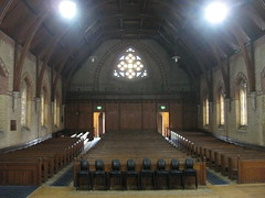 Looking Westwards Up the Nave of the Former Saint George's Presbyterian Church - Chapel Street, St Kilda East (raaen99) Tags: saintgeorgespresbyterianchurch saintgeorgesunitingchurch saintgeorgeschurch saintgeorgesstkildaeast saintgeorgeseaststkilda stgeorgespresbyterianchurch stgeorgesunitingchurch stgeorgeschurch stgeorgesstkildaeast stgeorgeseaststkilda unitingchurch presbyterianchurch presbyterian eaststkilda stkildaeast chapelstreet chapelst church placeofworship religion religiousbuilding religious melbourne melbournearchitecture 1877 1880 1870s 1880s nineteenthcentury victorian victoriana 19thcentury victoria australia gothicrevivalarchitecture gothicarchitecture gothicrevivalchurch gothicchurch gothicbuilding gothicrevivalbuilding ecclesiastical gothicrevivalstyle gothicstyle architecturallydesigned albertpurchas architecture building window stainedglasswindow stainedglass