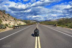 On A Road Trip (VGPhotoz) Tags: selfie road joke sky arizona play mountains man he arizonacollection explorearizona az arizonahighways safetyfirst nikon d5200 180550 mm f3556 ƒ67 180 12000 400 photo photographer artist artisticphotography funpics shot vgphotoz trip roadtrip tripping clouds rain image picture lifeisahighway destination destinationanywhere start go move ready letsgo vamos samergem tourism 2018 december winter seasonal inthemiddleoftheroad inthemiddleofnowhere balance lines roadahead hff fence marculescueugendreamoflightportal flickr americanwest southwest yahoo milesaway mountain thewildwest theway behind backpose skyview skylight cloudyday naturallight single