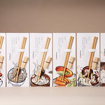 Packaging for chopstick set and rice scoopの写真