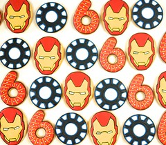 Ironman Cookies (kelleyhart) Tags: ironman ironmancookies birthdaycookies kidsbirthday sugarcookies customcookies kelleyhart