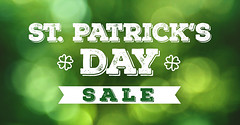St. Patrick's Day Sale Grunge Text Over Spring Green Bokeh Lights Texture Background (jpirhalla) Tags: saint patricks day sale patrick st illustration text ad background design advertisement green sign white word abstract symbol icon shop online offer ribbon graphic bokeh light clover leaf four 4 irish holiday template celebration happy event special art texture circle typography logo grunge distressed font type blur new glitter unitedstatesofamerica