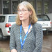 IITA DDG Corporate Services, Hilde Koper speaking at the commissioning of new fuel dispensing pump