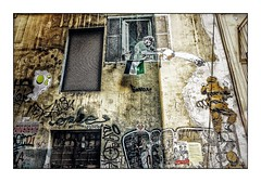 Napoli Walls 11 (Jean-Louis DUMAS) Tags: naples napoli italie italia rue street mur wall story voyage travel tourisme window tag streetart yellow jaune bâtiment architecture fenêtre trip
