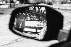 (halagabor) Tags: bnw blackandwhite monochrome mirror reflection car silhouette shape bridge street streetphoto streetphotography city citylife urban budapest óbuda hungary manualfocus nikon nikkor d610