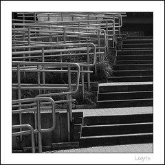 Confused (Logris) Tags: stair treppe stufen bw sw metall metal confused minimal