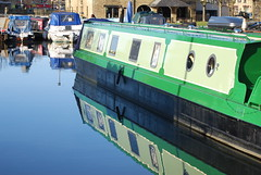 Seeing double ...... (Halliwell_Michael ## Offline mostlyl ##) Tags: brighouse westyorkshire nikond40x 2019 canalbasin calderhebblecanal narrowboats newyear reflection reflections halifaxcourier landscapes water reflectionslovers saariysqualitypictures