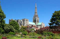 Chichester Cathedral (iwys) Tags: chichester sussex cathedral bishops garden spire building english architecture palace summer norman gothic