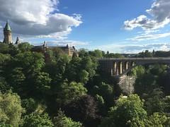 sunny Adolphe (joannab_photos) Tags: pétrusse trees sky blue spring bridge pont luxembourg