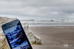 Redundant tech (thruenglisheyes) Tags: whiterocks iphone sea ocean sand beach waves water sky cloud