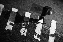 Le Passage... (De l'autre côté du mirOir...) Tags: lepassage noiretblanc noirblanc nb blackwhite bw négroyblanco monochrome nikon nikkor d700 nikond700 metz lorraine moselle parapluie passagepiéton ruepavé street urban fr france french