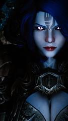 Charon - Determined (DiamondbackVIII) Tags: elder scrolls v skyrim horns dremora charon blue skin slit pupils facepaint black sclera pink eyes val tirkai armor tera ladyhorus
