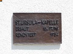 """Die St. Ursula-Kapelle in Anhausen (7er-Serie) (warata) Tags: 2014 """"fujifilm finepix hs30exr"""" deutschland germany süddeutschland southerngermany schwaben """"baden württemberg"""" badenwuerttemberg swabia nature outside landscape garden """"schwäbische alb"""" schwabenalb anhausen reutlingen lauter lautertal fluss river """"st ursulakapelle"""" kapelle chapel"""