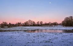 the first glimpse of winter (claudia.kiel) Tags: landschaft landscape countryside winter schnee snow sonnenuntergang sunset sunsetmood